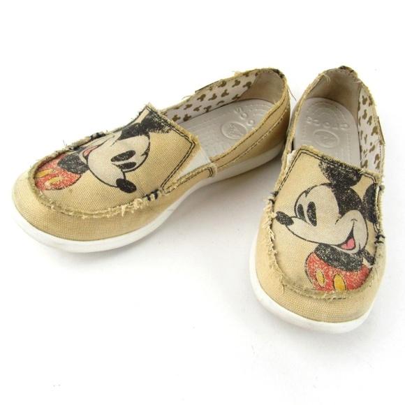united states half price high quality CROCS Shoes   Disney Mickey Mouse Tan Canvas Slip On   Poshmark